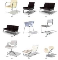 各式椅子3D素材下载
