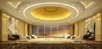 金色穹顶大会客室3ds模型