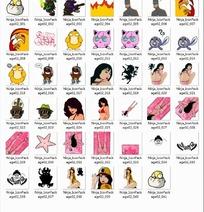 潮流与性感人物、卡通图标PNG格式