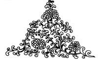 线描黑白的花纹矢量素材
