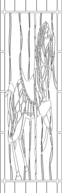 单色线条画马匹图案hpgl格式