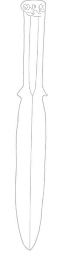 矢量匕首线稿