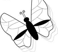 简单的黑色蝴蝶图案矢量素材