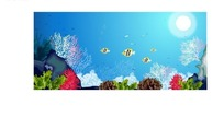 五颜六色的海底世界矢量图