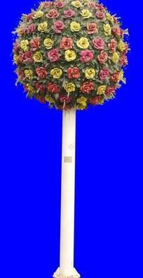 园林景观球形花卉设计抠图素材