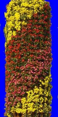 园林景观柱形花卉造型设计抠图素材