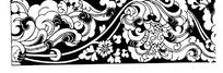 黑白花纹矢量素材