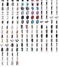 各种女士服饰鞋子3D模型