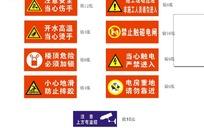 红底校园警示标识cdr