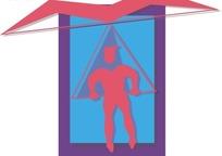 男子滑翔伞运动图形