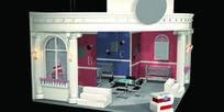 歐式公主風格展廳3dmax模型