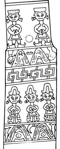 5个古代象形人物图像矢量