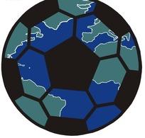 手绘画着地图的足球