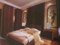 古典高雅卧室设计3D素材