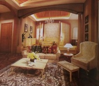客厅场景图设计3D素材