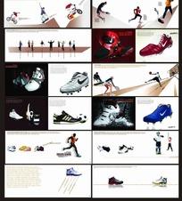 耐克跑鞋画册扉页设计