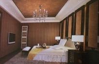 宁静形卧室设计3D素材