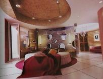 欧式圆形卧室设计3D素材