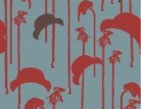 椰树和帽子图案