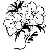 中国古典图案-花朵和叶子构成的简单图案