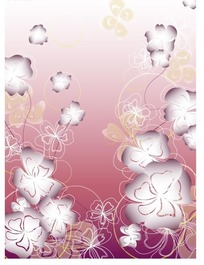 矢量花朵花瓣线稿插画设计稿件