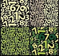 布满阿拉伯数字的框EPS格式