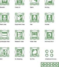 各种常见的绿色标志