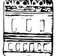 简单的古代花纹