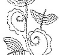 卷曲纹和半圆形构成的花纹