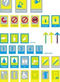 绿色的方形常见标志和数字