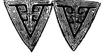 中国古典图案-回纹构成的三角形图案