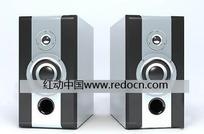 两个带低音炮的台式音响3dmax模型