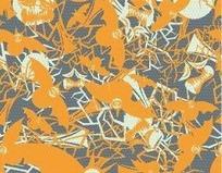 橙色蝙蝠图案