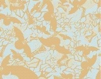 黄色蝙蝠图案