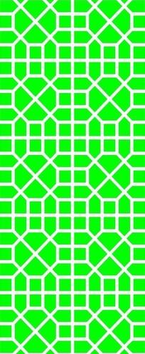 八边十字方形组成的镂空窗格图案