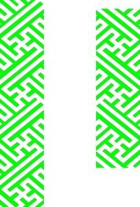 卐形和连线组成的镂空中式窗格图案