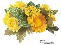 黄色精美艺术插花抠图素材
