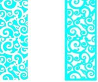 卷曲云纹组成的镂空中式窗格图案