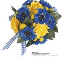 现代时尚黄蓝相间的艺术花球抠图素材