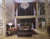 富贵欧式大客厅3D模板效果图