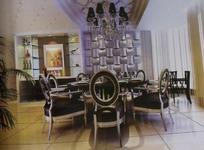 高雅小餐厅3D模板效果图