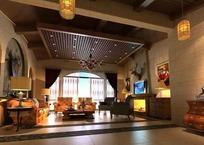 欧式木制结构客厅设计效果图