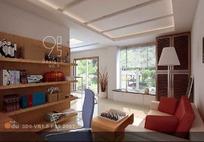 小书房3D效果图