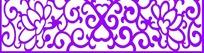 紫色卷纹莲花镂空中式窗格图案