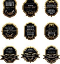 欧式标签标贴设计矢量素材