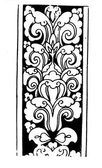 黑白传统重复花纹矢量图案