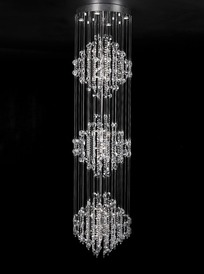 欧式现代线帘水晶圆形吸顶灯
