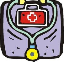 医药箱和听诊器
