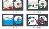 流线动感时尚CD盒和光盘