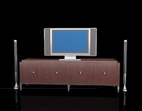 四门板式电视柜3dmax模型